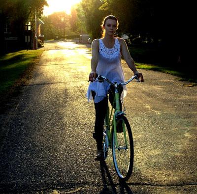 women riding image